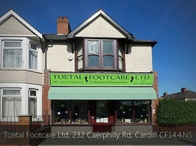Podiatrists / Chiropodists in HEATH Birchgrove, North Cardiff, Whitchurch, Cyncoed, Lisvane, Llanishen, Penylan, Canton, Pontcanna plus stockist of extra wide fitting shoes, therapeutic shoes, diabetic footwear & comfortable footwear